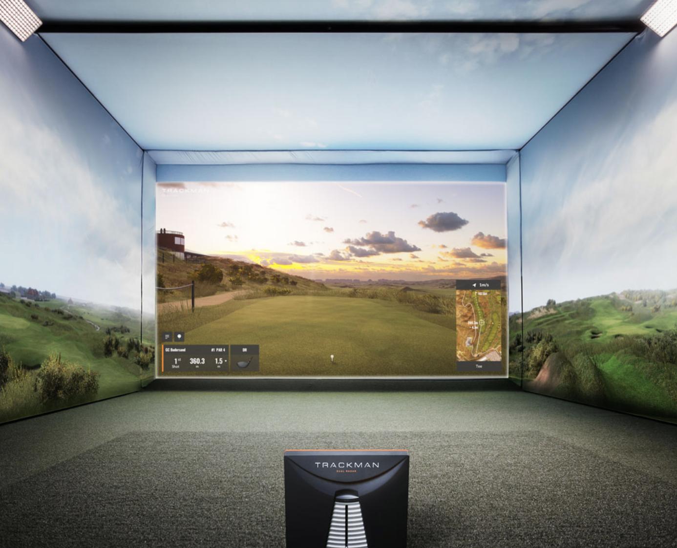 Golfsimulator hemma